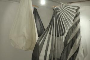 Eine Skulptur aus Textil